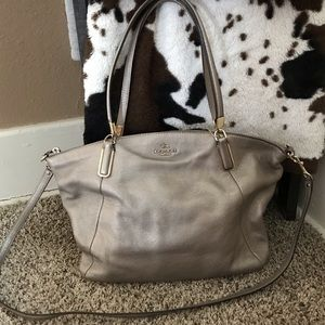 Coach Gold Leather Satchel